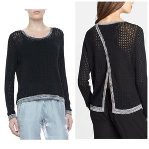Rag & Bone Ariana Perforated Split-Back sweater